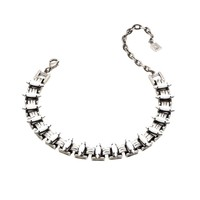 Dannijo Gene Necklace - White Crystal Choker - ShopBAZAAR