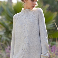 LA Hearts Chunky Cable Mock Neck Pullover Sweater at PacSun.com
