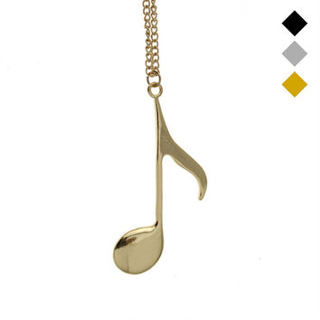 Tone Music Notes Pendant Necklace for Women