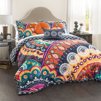 The Emmaleigh Boho Bohemian 5 PC Comforter Bedding Set