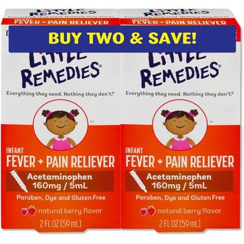 Infants' Little Remedies Fever & Pain Reliever Liquid - Acetaminophen - Berry - 4 fl oz