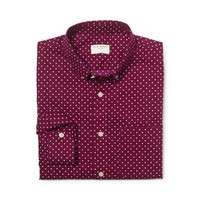 Modern Slim Polka Dot Shirt