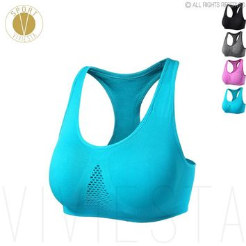 Breathable Sports Bra - Yoga Running Jogging Support Wireless Comfort Home Daily Night Sleep Bra Top Sportswear Activewear XL