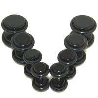Lot of 4 - Fake Cheaters Illusion Ear Plugs (Color Black, Stem 16G or 1.2mm, 4G 2G 0G 00G Sizes, Total 8pcs)