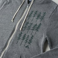Forest Zip Up Hooded Sweatshirt