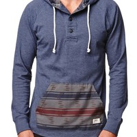 Vans Lindero Pullover Hooded Shirt - Mens Shirt - Blue