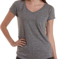 Boyfriend Pocket Tee by Charlotte Russe