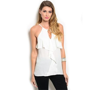 Spaghetti Strap Relaxed Fit Woven Blouse