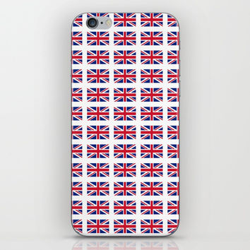 flag of uk 3 - London,united kingdom,england,english,british,great britain,Glasgow,scotland,wales iPhone & iPod Skin by oldking