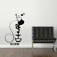 Wall Decal Sticker Hookah Hooka Shisha Lounge Relax Inscription Bar Hause M1569