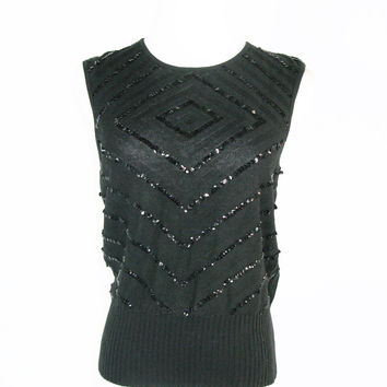 Hyphen for Debenhams Knit Sequined Sleeveless Top UK 14 / US 10