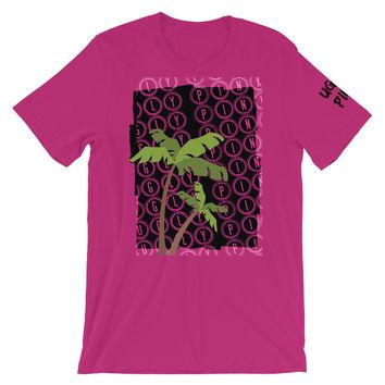 UGLY PINK 2 PALM TREES MENS T-SHIRT