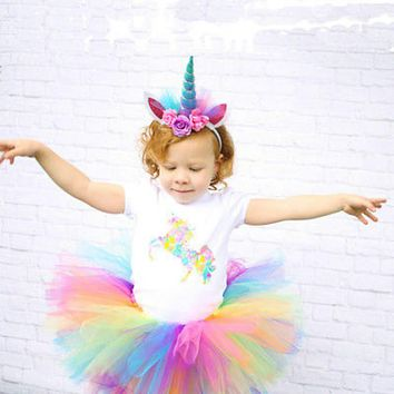 Summer Fashion Colorful Headwear Decorative Magical Unicorn Horn Head Party Hair Headband Fancy Dress Cosplay For Kids Baby Girl