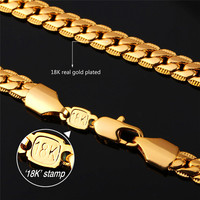 FOR HIM - Men's 18K Real Gold Plated Necklace
