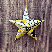 Upcycled Four Loko Lemonade Can Star Ornament
