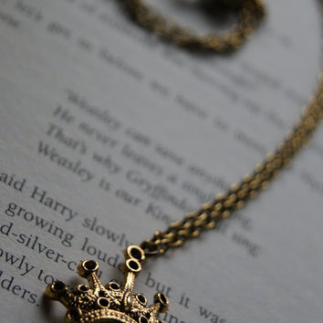 Harry Potter Weasley is Our King Necklace by holycrapitskirsty