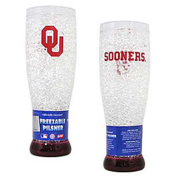 Oklahoma Sooners NCAA Crystal Pilsner Glass