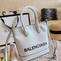 Balenciaga Women Leather Shoulder Bag Satchel Tote Bag Handbag Shopping Leather Tote Crossbody Satchel Shouder Bag created