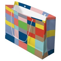 Cubist in Spring Colors Large Gift Bag