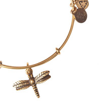 Alex and Ani Dragonfly Expandable Wire Bangle Russian Silver