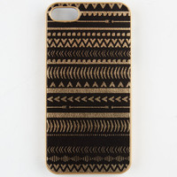 Ethinc Metallic Print Iphone 5/5S Case Black/Gold One Size For Women 23983577401