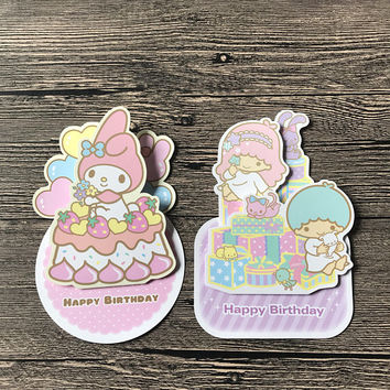 Little Twin Stars or My Melody Pop-Up Party Card - Sanrio
