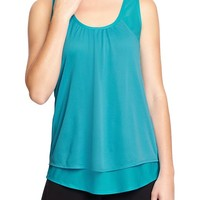 Women's Old Navy Active Double-Layer Mesh Tanks