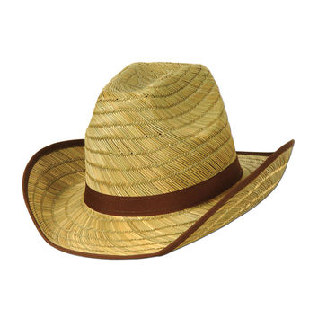 Beistle Party Decoration Adult Cowboy Hat w/Brown Trim & Band- Pack of 60