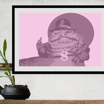 Star Wars movie poster print JABBA THE PIMP Star Wars by Harshness