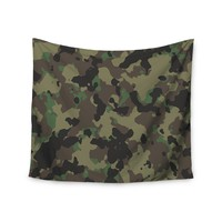 """""""Green Camo"""" Camouflage Wall Tapestry"""