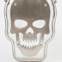 See Through Skull Death Clutch Purse CLEAR