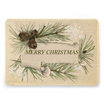 Vintage Paper, Holiday Christmas Card Pine Cones