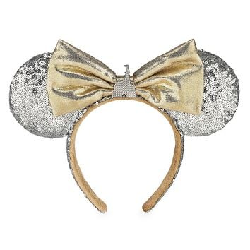 Disney Parks Minnie Cinderella Castle Silver Ears Headband One Size New with Tag