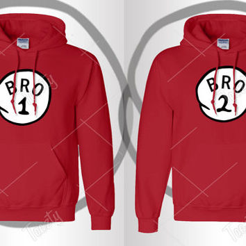 Bro 1 Bro 2 Hoodie Hoodies Sexy Drunk Bro Trouble Thing Series Sweatshirts Sweatshirt Tank tops T-shirts Couple Hoodies Matching Hoodies