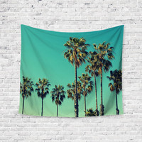 California Dream Palm Trees Unique Trendy Boho Wall Art Home Decor Unique Dorm Room Wall Tapestry Artwork