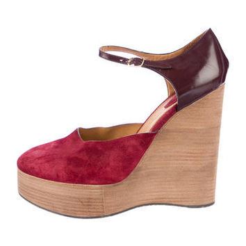 Chloé Platform Wedge Pumps