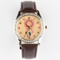 Dream Catcher Watch Brown One Size For Women 25190440001