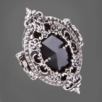 HALLOWEEN BLACK ORNAMENT RING