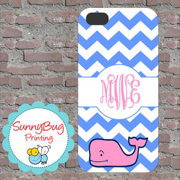 Blue Chevron Vineyard Vine Custom Monogram Phone case! iPhone 4, 5, and Galaxy 3!