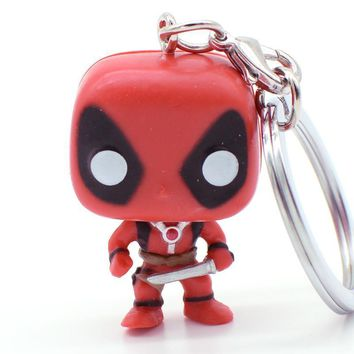 Deadpool Dead pool Taco DC Superhero Theme Keychain Toys Action Figure  Collectible Model Vinyl Dolls Keyring Children Gift Very Cute AT_70_6
