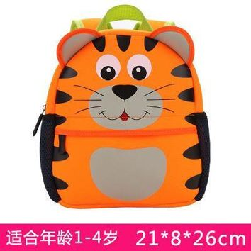 Cartoo animal Cute Tiger children baby boys girls canvas schoolbag Children gift Backpacks Cute fashion personality Anti-lost