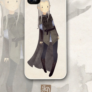 Iphone 5 hard or rubber case cute Legolas / The Lord of the Rings