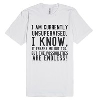 The Possibilities Are Endless!-Unisex White T-Shirt