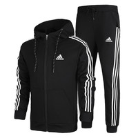 Uunisex Adidas Casual Cotton Long Sleeve Plus Size Sportswear Set [9521244295]