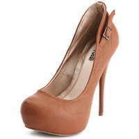 Charlotte Russe - Buckled-Collar Platform Pump
