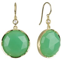 Irene Neuwirth  - Rose Cut Chrysoprase and Diamond Earrings (Gold/Chrysoprase)