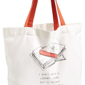 Nordstrom at Home 'Pick Me Up' Book Tote Bag