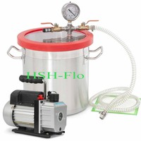 Purge Wax Kit - 1.5 Gallon Vacuum Chamber Kit with 2 Stage Vacuum Pump