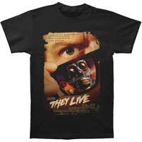 They Live Men's  They Live Poster T-shirt Black