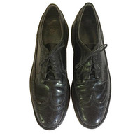 Vintage Florsheim Imperial The Worthmore Blucher Derby Shoe Black Oxford Shoe Men Dress Shoe Wingtips Men Oxford Shoe